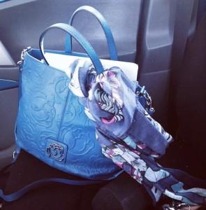borsa braccialini blu primavera/estate 2015