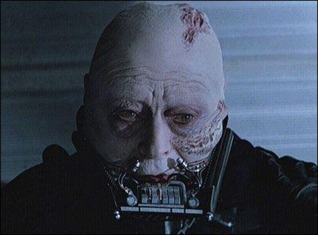 darth vader senza maschera