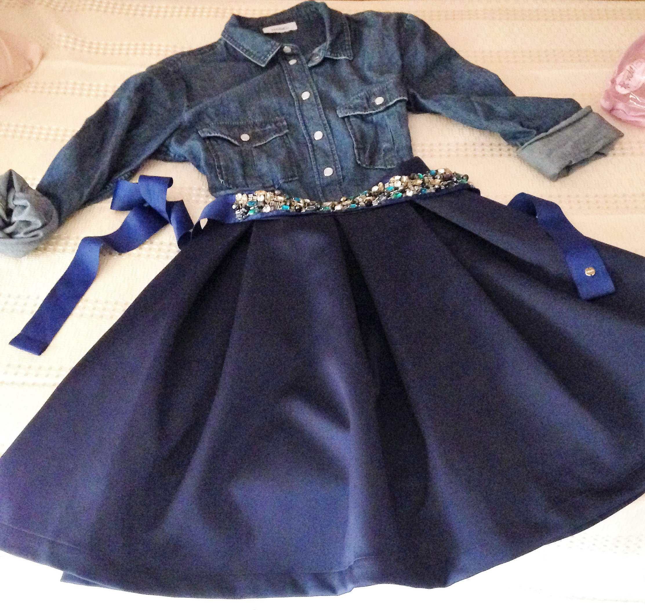 outfit autunno blu