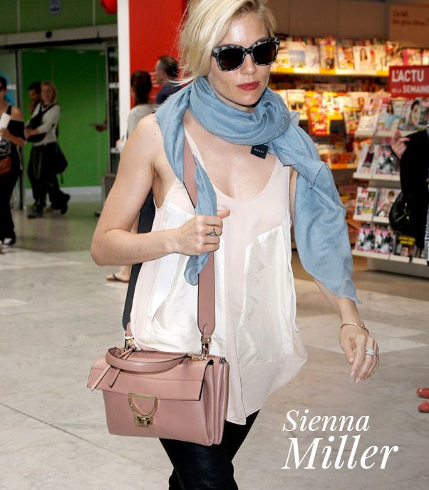 Sienna Miller e la Coccinelle Arlettis