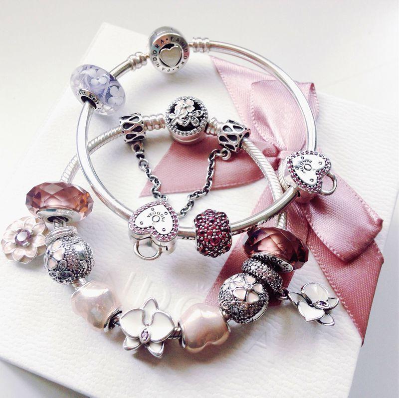 bracciale pandora rosa antico