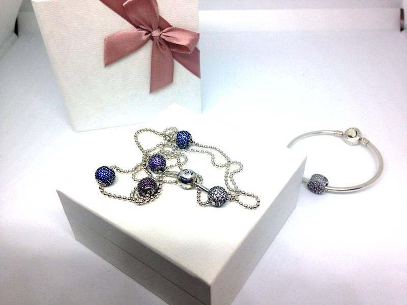 collana blu viola